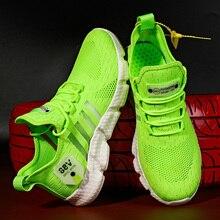 Zapatillas de deporte transpirables para hombre, zapatos masculinos de malla suave antideslizantes y cómodos de alta calidad, novedad de verano, envío directo