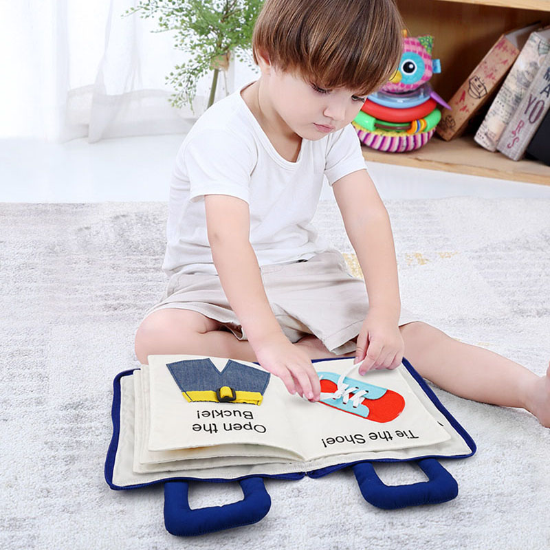 3D Baby Cloth Book Quiet Antonym Lullaby Cloth Book Can Bite Montessori Early Childhood Story Book Toy Gift For 0-3 Years Old