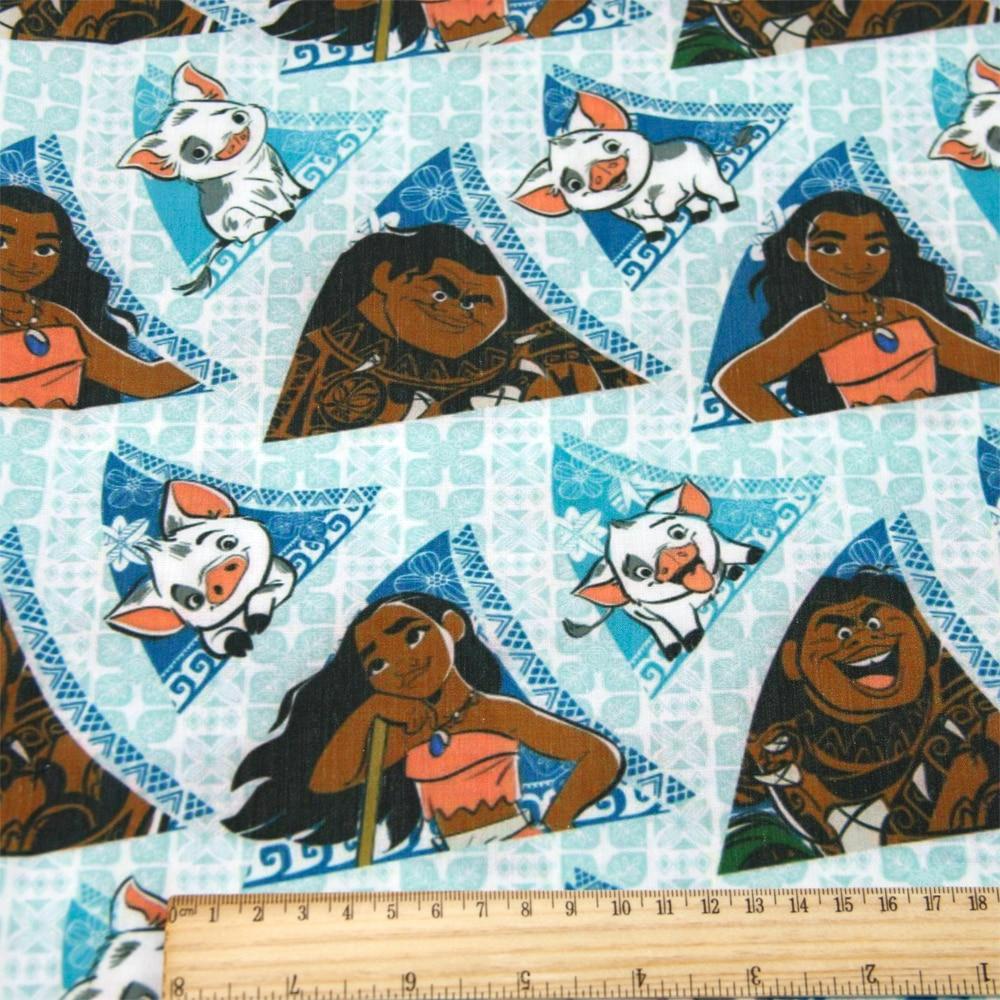 50*140 см мультфильм дизайн полиэстер хлопок ткань для ткани дети девочки платье Домашний текстиль для шитья ремесла, c2445 - Цвет: 1054032001