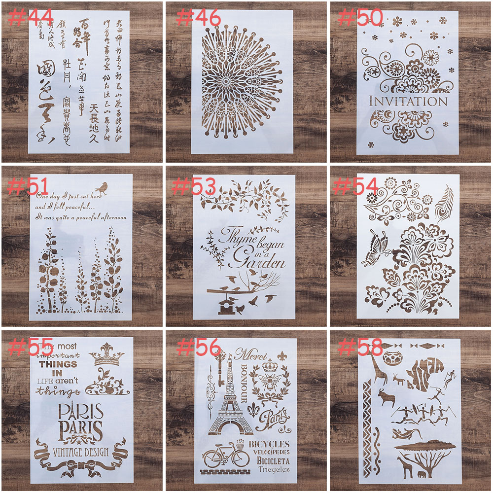 A4 Size DIY Craft Layering Mandala Stencil For Wall Painting Scrapbooking Stamping Stamp Album Decorative Embossing Paper Card S