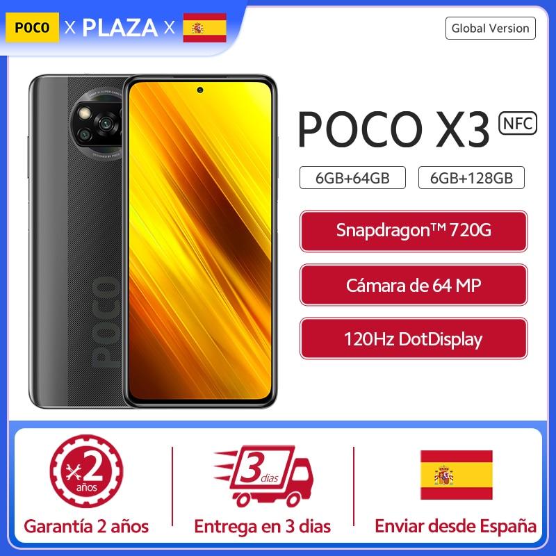 "Xiaomi versión Global POCO X3 NFC Smartphone Snapdragon 732G 6,67 ""FHD Dotdisplay 64MP AI Quad Camera 5160mAh batería 33W FC|Teléfonos móviles| - AliExpress"