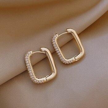 2021 coreano moda nova requintado simples brincos geométricos temperamento pequeno versátil brincos jóias femininas 1