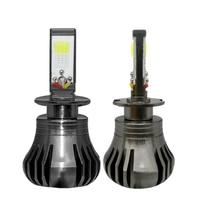 2PCS LED Car Headights H3 H11 880 White And Blue Two Lighting Modes 12V 24V LED Fog Light Bulb Auto Car Driving DRL Lamp