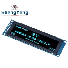 """ShengYang Display OLED reale 3.12 """"256*64 25664 punti schermo LCD grafico modulo Display schermo LCM SSD1322 supporto Controller SPI"""