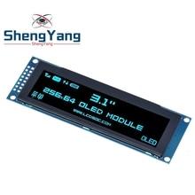 "ShengYang شاشة عرض OLED حقيقية 3.12 ""256*64 25664 نقطة وحدة عرض LCD الرسومات شاشة LCM SSD1322 تحكم دعم SPI"