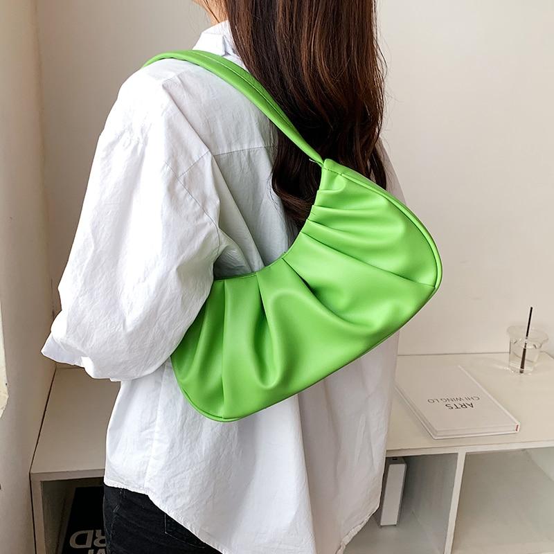 sólida bolsas de ombro bolsa de ombro