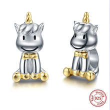 SG 925 sterling silver Animal cute horse bear beads charms for women fit original pandora bracelet jewelry making sg 925 sterling silver cute cock charms beads animal collection fit original pandora bracelet pendant fashion jewelry for gifts