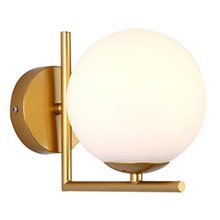 Modern Style Led Wall Lamp Nordic Glass Ball Wall Lamp Passage Corridor Bedroom Bedside Lamp Wall Lamp Gold(China)