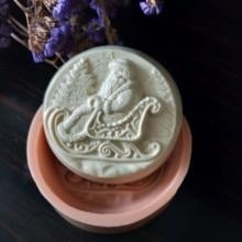 Рождественская форма Санта-Клауса силиконовые формы для мыла пресс-формы для мыла DIY для ручной работы силиконовая Мыло Формы для выпечки полимерные глиняные формы