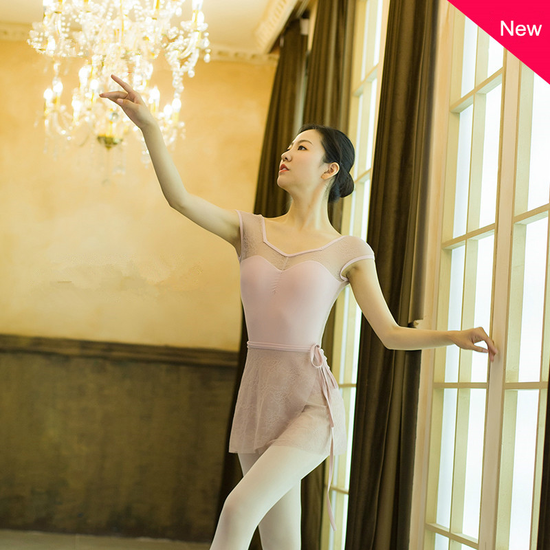 Girls Ballet Tutu Leotard Ballet Dress Sleeveless Turtle Neck Lace Ballet Dance Gymnastics Leotard Professional Short Long Tutu
