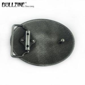Image 2 - Bullzine western zinc alloy running horse belt buckle pewter  finish FP 03388 cowboy jeans gift belt buckle
