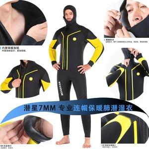 Image 5 - 7Mm Neoprene Spearfishing Wetsuit Full Body Front Zipดำน้ำชุดสำหรับชายล่าสัตว์ใต้น้ำว่ายน้ำSurfing Wetsuits