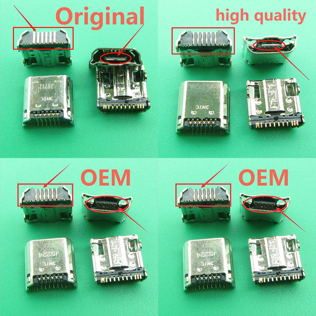 10 개/몫 마이크로 USB 플러그 충전 포트 커넥터 소켓 삼성 탭 3 7.0 I9200 I9205 P5200 P5210 T530 T210 T211 T311 I9208