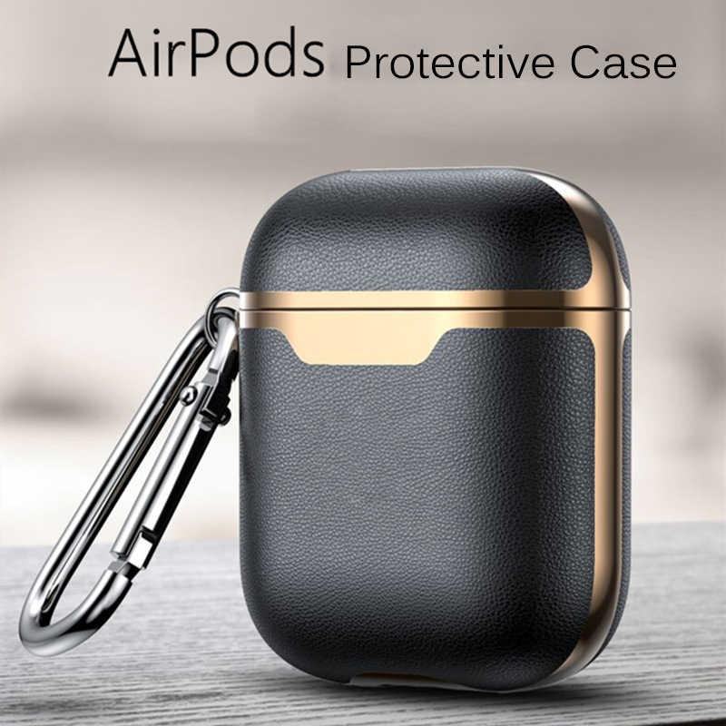 Lüks coque süper deri funda kulaklık kutusu AirPods için Pro 3 2 kulaklık kulaklık kılıfları hava pods 2 koruyucu kapak