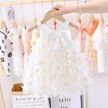 Baby Girls Sweet Bowknot Princess Mesh Dress Summer 2020 New Girl Children's  Puff Yarn Dress kids baby girl cloths