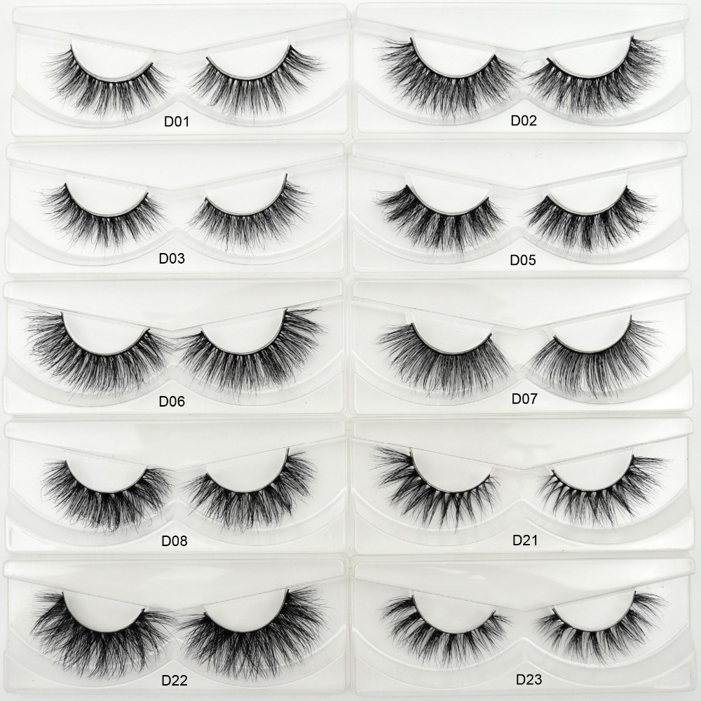 Visofree 3D Mink Eyelashes HandMade False Eyelashes Natural Lightweight Lashes Full Strip Fake False Eyes Lashes Extension Tools