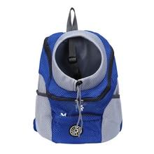 Fashion Side Pockets Double Shoulder Straps Outdoor Pet Carrier Bag Drawstring Adjustable Travel Mesh With Buckle Dog Portable