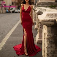 Длинное вечернее платье русалки 2020 халат de soiree с Боковым