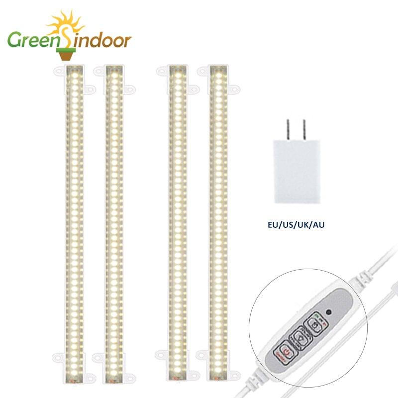 Greensindoor с регулируемой яркостью Led полный спектр светать светильник полосы Закрытый Фито лампа для выращивания растений в теплицах посева USB...