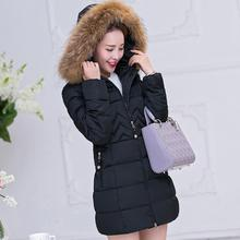 Hooded autumn and winter fur collar down jacket 2019 gray womens parka jackets Female coat warm Plus size