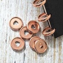 10pcs צבעים נייד פטריות חור כפתור פנקס פלסטיק רופף עלים סליל 360 תואר מתקפל דיסק אבזם מחייב טבעת