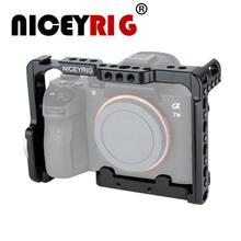 NICEYRIG هيكل قفصي الشكل للكاميرا لسوني a7 ii a7ii a7 iii a7iii a7m3 a9 a7s a7rii a7r3 a7r iii a7sii dslr فيديو قفص لسوني ألفا 7