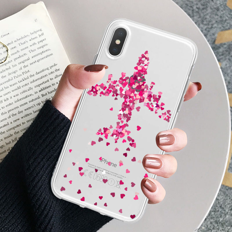 LAUGH LIFE Trip Transparent Phone Case For iPhone XR XS Max X XS Case Luxury World Map Travel Soft Tpu Cover for iPhone 6 7p 8p