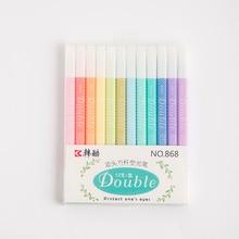 3 대/몫/많은 듀얼 사이드 컬러 형광펜 마커 펜 굵게 좋은 팁 가벼운 색상 라이너 드로잉 펜 눈을 보호 사무실 학교 A6797
