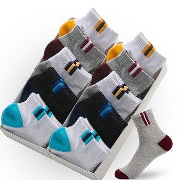 10 pares de medias transpirables para verano de algodón de calidad para hombre, Calcetines deportivos suaves, Calcetines negros de marca para hombres, Calcetines Sokken Sox