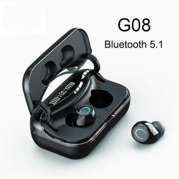 New G08 Bluetooth 5.1 Earphone Touch Control Wireless Headphons HiFi IPX7 Waterproof Earbuds Headset IPX7 Waterproof