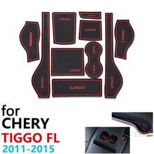 안티 슬립 고무 컵 쿠션 도어 그루브 매트 chery tiggo fl t11 facelift 2011 ~ 2015 2012 2013 2014 액세서리 매트 전화