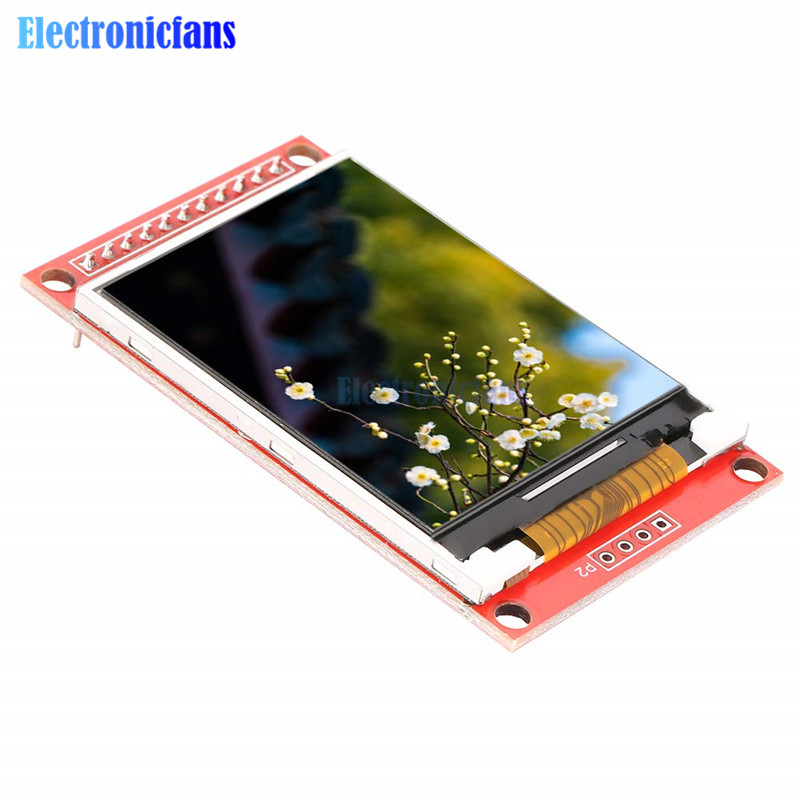 2.0 Inch ILI9225 TFT LCD Module SPI Serial Interface Module 176 * 220 Minimum Occupancy Support 3/5.5V Power Supply 4 IO