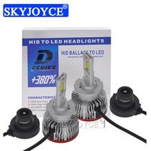 Skyjoyce 2 pçs d2s led luzes do carro d2r led canbus lâmpada farol 70w 12000lm branco led para substituir hid kit de lastro conversão