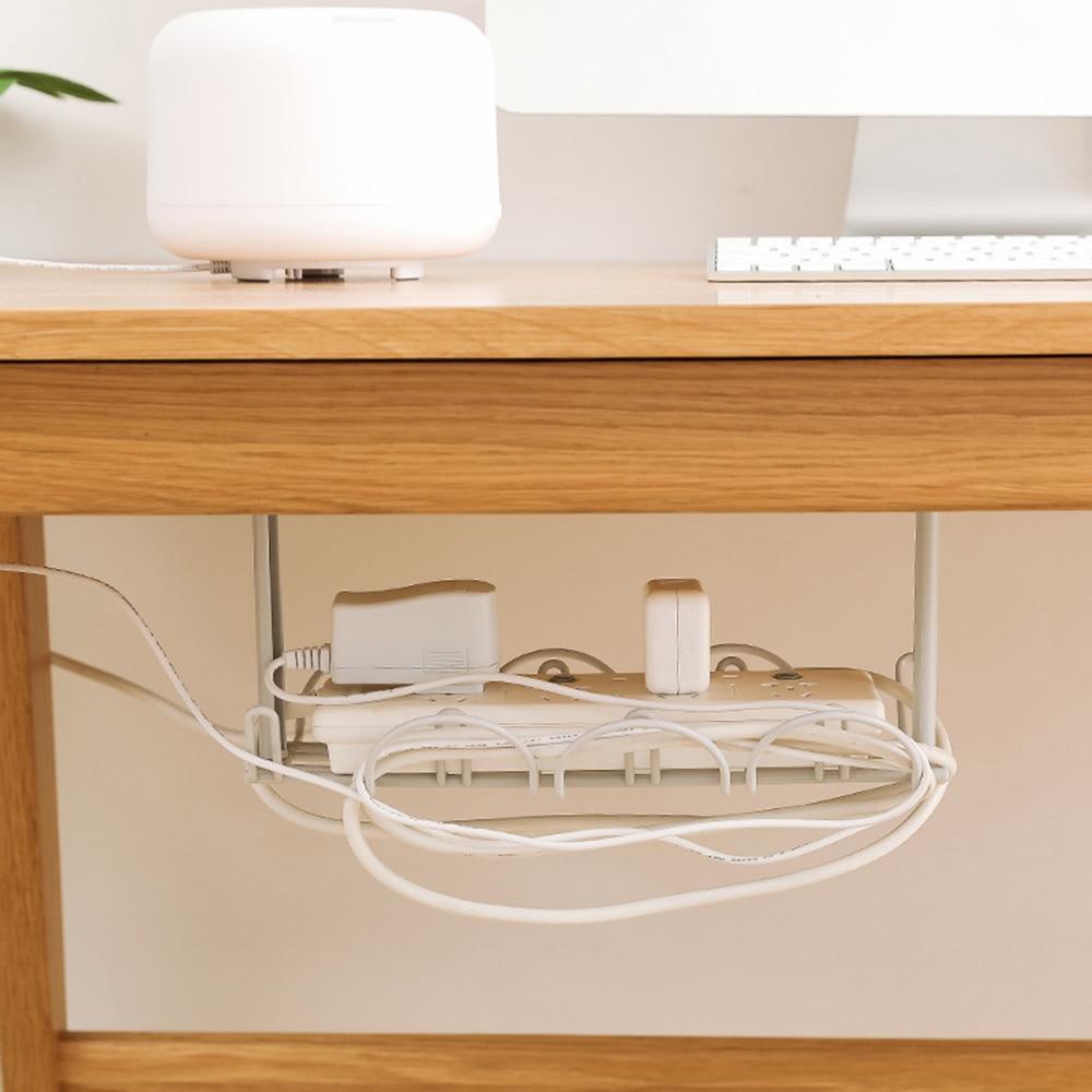 Multi-función de la Mesa en almacenamiento de Cables Rack macho-organizador, tablero cocina estante pasta línea controlador casa Rack de almacenamiento Colgable de la puerta del hogar de la cocina gabinete trasero de la basura soporte de la bolsa de basura estante de almacenamiento colgante