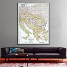 A1 Size 1951 Edition Fine Canvas Map of Central Europe Including The Balkan States Vinyl Spray Painting For Home Art Wall Decor 2pic set paris city landmarks and cars modern painting hd prints on canvas wall art for living room canvas printings home decor