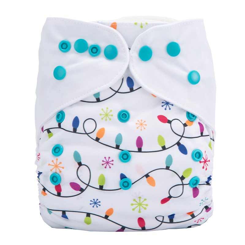 Washable Baby Cloth Diaper Nappy Eco White Cute Fawn Cotton Cloth Diapers Extra Care Baby Diaper DYX11