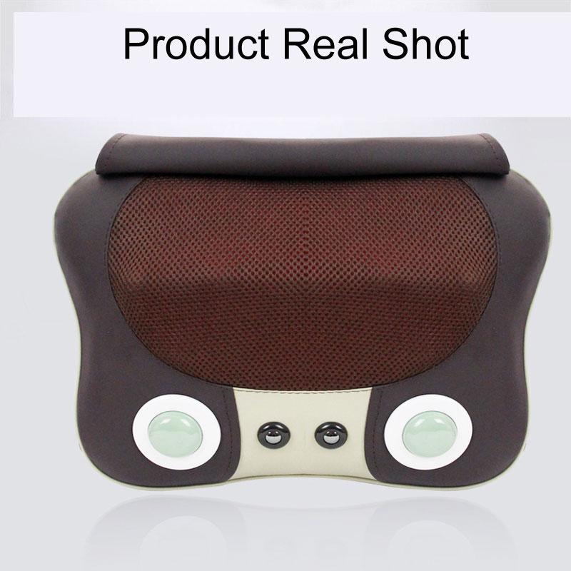 Neck Waist Heating Massage Cushion Kneading Massage Household Whole Body Multi-Functional Massager AC220V