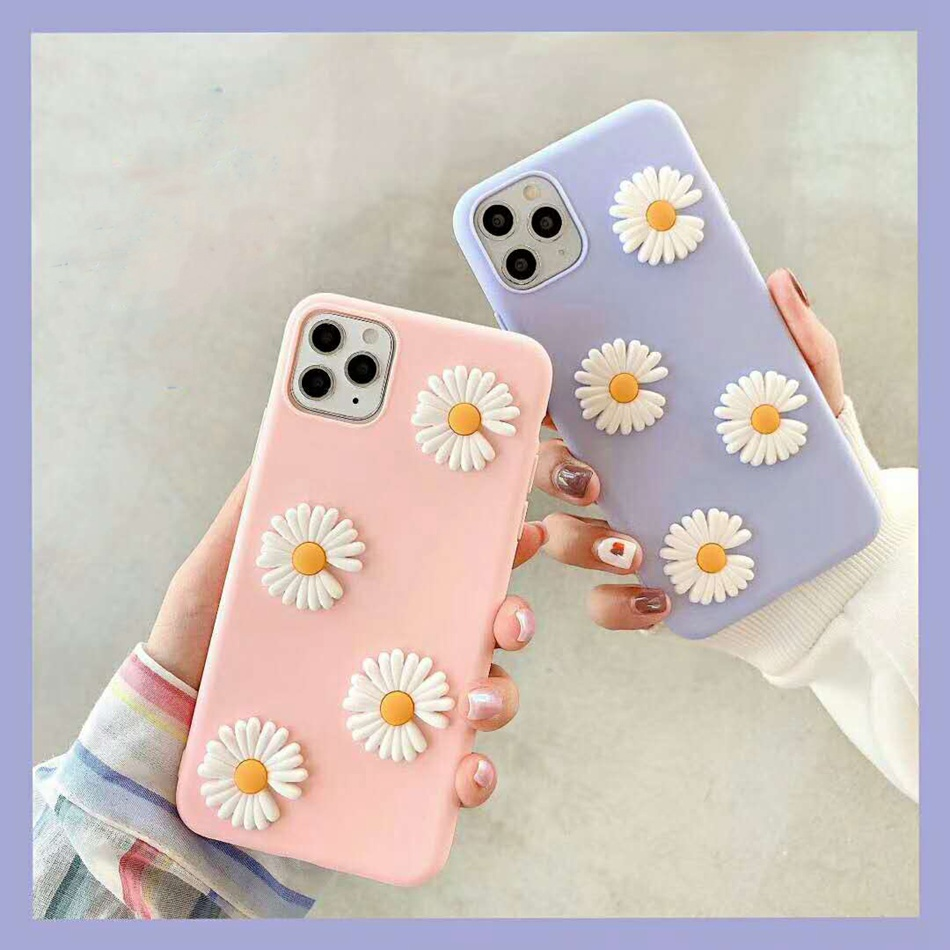 3D Cute DIY Phone case For Xiaomi Redmi Note 8T 8 7 6 5 5A K30 K20 Lovely Flowers Cover For Xiaomi Redmi 8 8A 7 7A Soft TPU Cose(China)