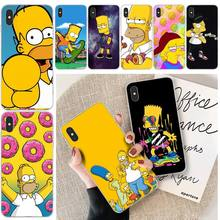 Simpson Cartoon Customer High Quality Phone Case For iphone 6 6s plus 7 8 plus X XS XR XS MAX 11 11 pro 11 Pro Max Cover lovebay geometri customer high quality phone case for iphone 6 6s plus 7 8 plus x xs xr xs max 11 11 pro 11 pro max cover