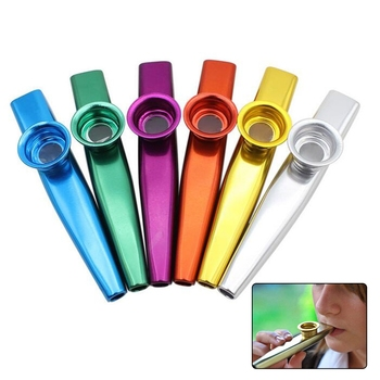 1pc+Metal+Kazoo+With+6+Kazoo+Flute+Diaphragm+Mouth+Flute+Harmonica+For+Beginners+Kids+Adult+Party+Gifts+Musical+Instrument