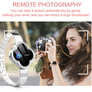 Image 2 - elegant smartwatch women phone fitness tracker Rose gold android watch relogio inteligente montre connect health wristband