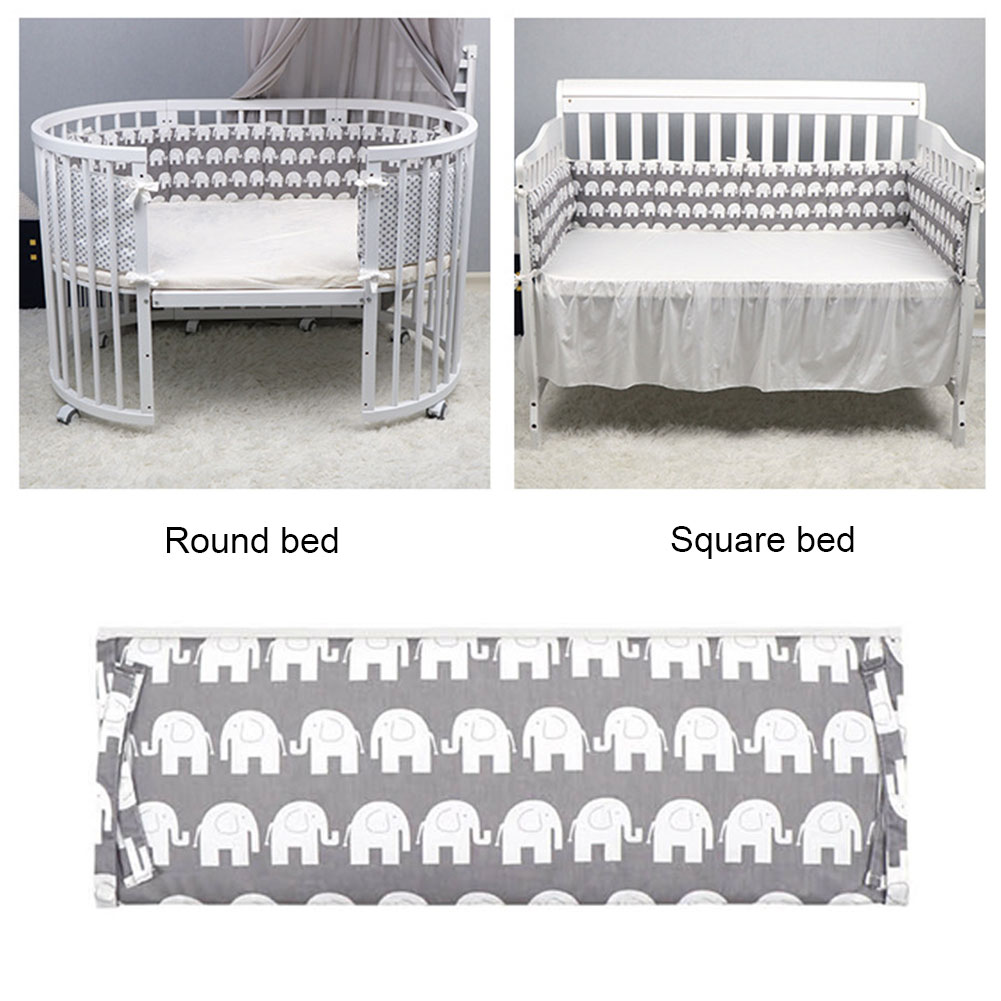 Bedroom Cushion Pillows Comfortable Bed Bumper Cot Protector Kids Home Decor Stuffed Doll Newborn Baby Soft Crib Infant Fence