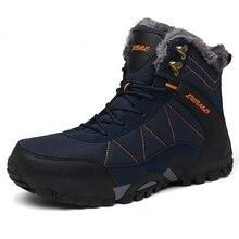 حجم كبير 36 46 الشتاء الرجال الأحذية عالية الجودة حذاء من الجلد للرجال الثلوج الأحذية مقاوم للماء الشتاء أحذية الرجال النساء بوتاس hombre