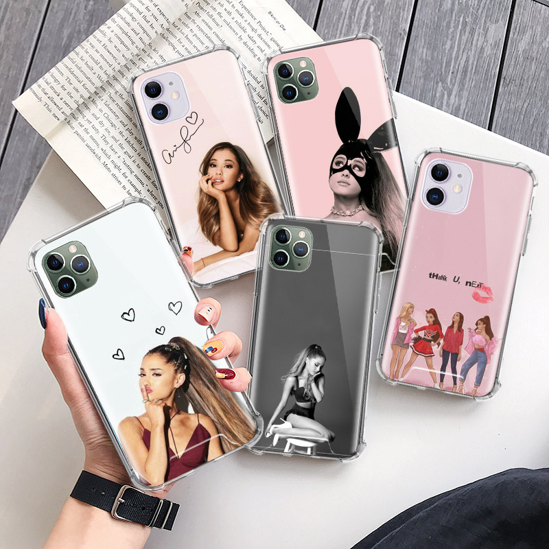 <font><b>Ariana</b></font> <font><b>Grande</b></font> Next <font><b>Case</b></font> for Apple <font><b>iphone</b></font> 11 11Pro XR XS Max X 7 8 6 <font><b>6S</b></font> Plus Airbag Anti-Fall Clear Phone Fundas Capa image