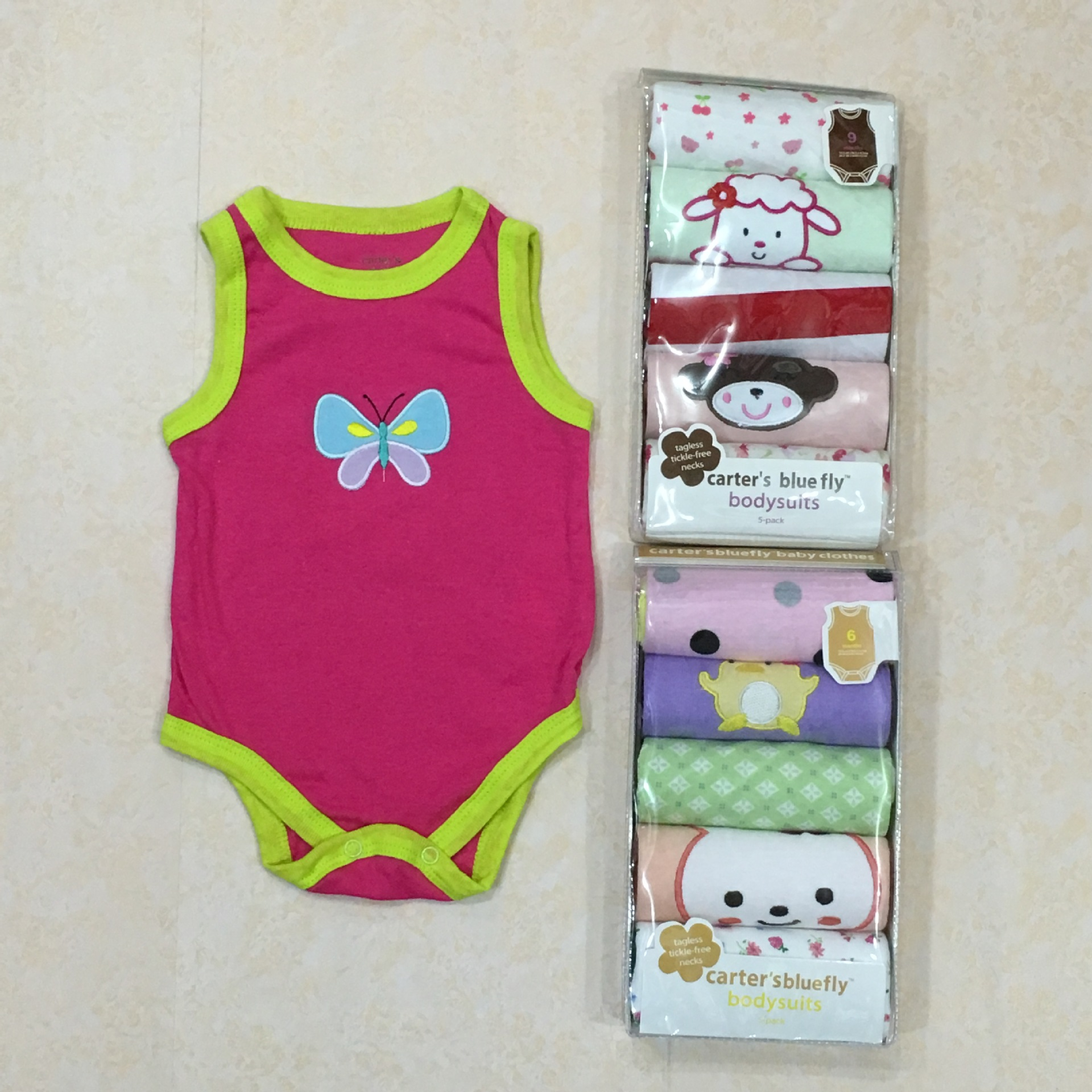 Hot Sales-Summer Infant Gift Box Triangle Romper Vest Baby Bodysuit Romper Newborns 5-Piece Bag Onesie