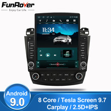 "Funrover IPS 2.5D 9.7"" Tesla screen For Honda Accord 7 2003-2007 android 9.0 8 cores Car Radio Multimedia Player GPS Navi no dvd(China)"
