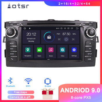 DSP Android 9.1 GPS Navigation Car DVD Player For Toyota Auris 2008+ Auto Stereo Radio Multimedia Player Head Unit tape Recorder