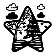 Eastshape Star Dies River Trees Metal Cutting Dies New 2019 for Card Making Scrapbooking Embossing Cuts Stencil Craft Dies(China)