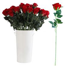 1Pc Artificial Vivid Color Flower Simulation Red Rose Non-fading Wedding Home Hotel Cafe Party Decor New Year Bouquet