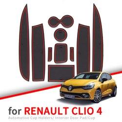 Противоскользящий подстаканник для Renault Clio 4, противоскользящий подстаканник для дверей, аксессуары для стайлинга интерьера автомобиля